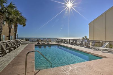 You'll have access to this community pool right by the beach!