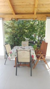 Photo for Apartment TINKA-with beautiful garden area (60681-A2) - Starigrad Paklenica