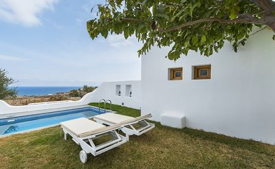Photo for Villa Rinio Santorini 1 Bedroom 1 Bathroom and living room (2 to 4 persons). New villa with private pool, fully equipped BBQ and beautiful garden