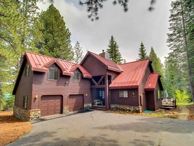 Photo for Bright & airy family-friendly home with a fireplace, large deck & yard!