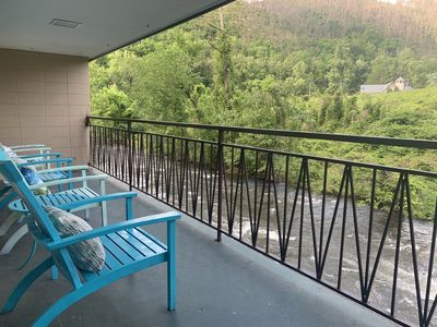 Photo for *NEW PROPERTY!* Gatlinburg Riverfront Condo, Downtown Gatlinburg!