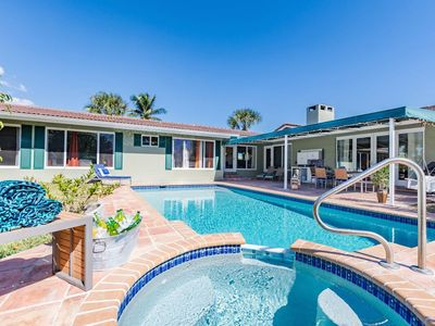 Photo for Sprawling Home with Pool, Billiards & Privacy; Walk To The Beach & Restaurants