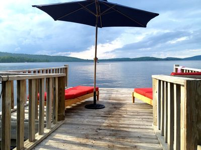 "Private Dock (2 New ""Restoration Hardware"" Teak Chaises/Cushions & Boat Mooring)"