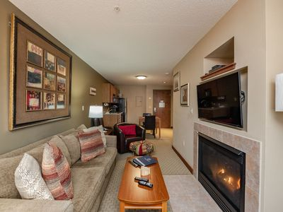 Photo for A205- One bedroom lake view suite, kitchenette & private balcony!