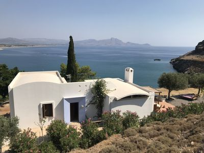 Photo for Architect desinged Villa on a hill with spectacular views over Vlycha Bay