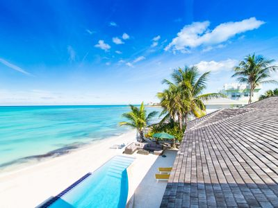 Photo for Luxury Beach Villa & Guesthouse w. Pool, Private Beach 6 BR Most Amazing View!