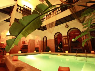 Photo for RIAD OF CHARMES IN THE HEART OF THE MEDINA WITH SWIMMING POOL AND JACUZZI, HAMMAM AND SPA