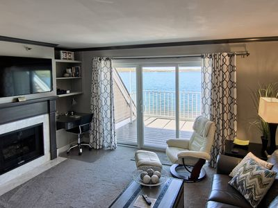 Photo for 1BR Beachfront Condo on Gorgeous Lake Charlevoix in Boyne City!
