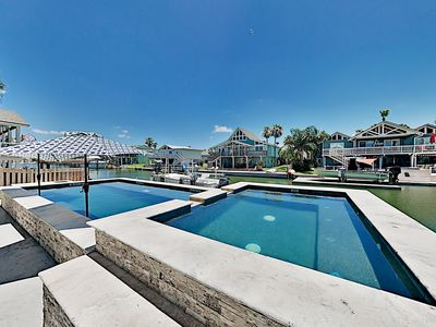 Photo for New Key Allegro Home on Canal w/ Private Pool, Spa & Dock - Near Beach!