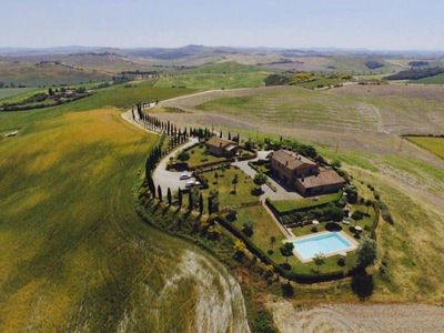 Photo for Terraced house with swimming pool in farmhouse near Siena with swimming pool