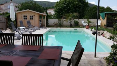 Photo for Holiday house / cottage, in Méthamis in Provence with pool, 4/6 persons