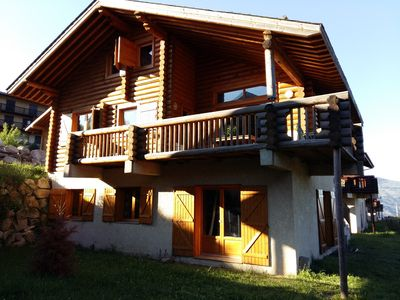 Photo for Charming T3 - sleeps 7 in log cabin - Sauna and garden