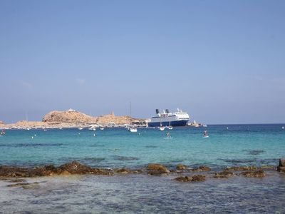 Photo for L'Ile-Rousse, beautiful apartment 4 pers., Private parking, with stunning sea views