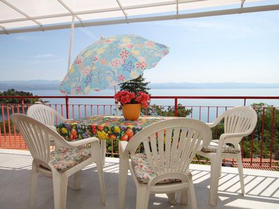 Photo for One bedroom apartment with terrace and sea view Medveja (Opatija)