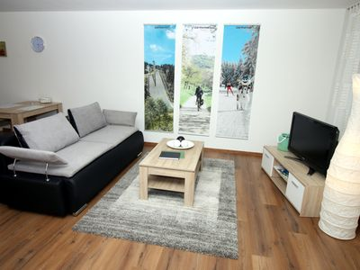 Photo for Modern apartment for 3 - right in Oberhof am Rennsteig incl. Wi-Fi / Parking