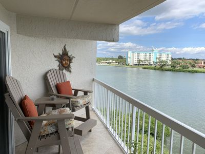 Photo for Beautiful Direct Waterview Condo steps to the Beach, like new!