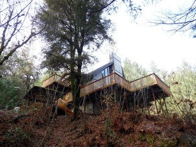 The house sits on an acre of land for you to explore