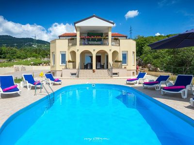 Photo for Villa with pool and great view near Crikvenica