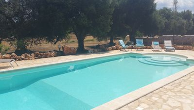 Photo for Restructured Trulli with 2 Appartments, private 12 m Pool, own land of 2500 sqm