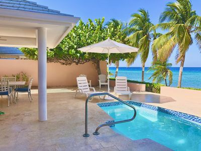 Photo for Hideaway Haven Beachfront Villa-Private Pool & Beach! Sleeps 8. Grand Cayman!