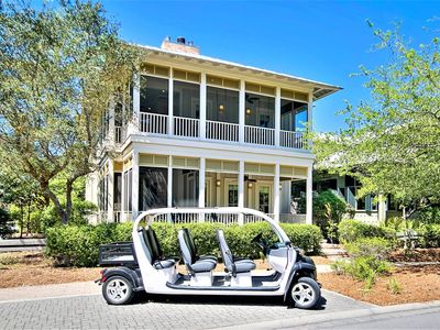 Photo for Luxurious 5 BR w/ Electric Cart, Gourmet Kitchen & CH in Heart of Camp District