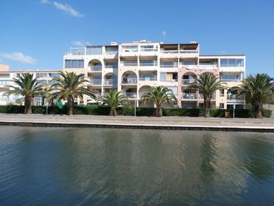 Photo for Apart. Residential Ground Garden Cap D'Agde For 5 People Pool And Air Conditioning