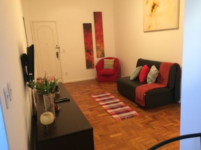 Photo for Excellent apartment bedroom and living room in Ipanema