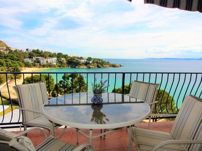 Photo for Private building, quiet area, large apartment with large terrace, sea view, ALMDRAVA