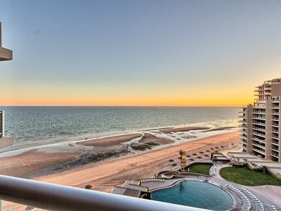 Photo for Ocean Front 2 Bed 2 Bath Condo, Fully Furnished, Stunning Sunset Views