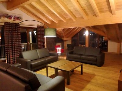Photo for Surface area : about 55 m². Orientation : South. Living room with settee. Bedroom with double bed