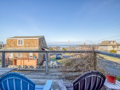 Photo for 3 Bedroom Ocean View Home in Roads End with Large Deck, Short walk to Beach