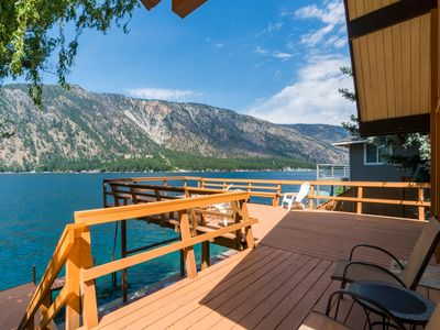 Photo for Dog-friendly lakefront home w/ 140 feet of waterfront, 800 sf deck, near town!