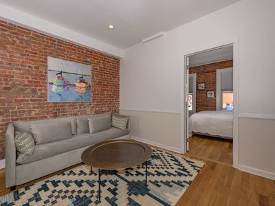 Photo for Chic 1 BR Flat on Quiet Street Near Grove St. PATH