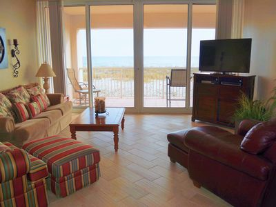 Photo for Large Two Bedroom Gulf Front Gem:  Book Now for Fall