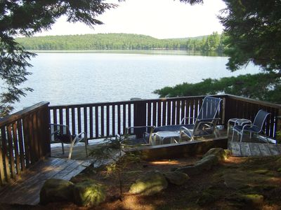 Photo for 240 feet of lakefront on a pristine secluded Adirondack Lake.