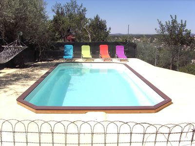 Photo for Villa with pool, sleeps 6, stunning views, near sea and Cevennes
