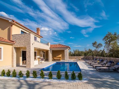Photo for Holiday home in Pinezici, Island Krk, Croatia  with private pool for 8 persons