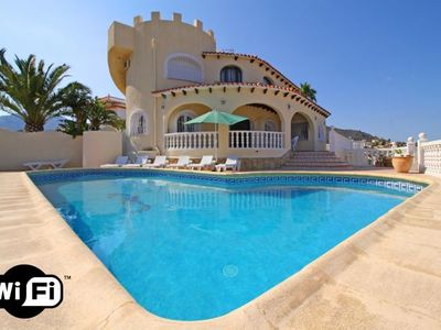 Photo for 7 bedroom Villa, sleeps 15 with Pool, Air Con, WiFi and Walk to Beach & Shops