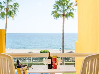 Photo for Beachfront apartment La Cala de Mijas - Arruzafa Playa I AP-5676