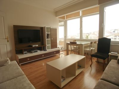 Photo for Spacious Bosphorus X apartment in Ortaköy with WiFi & balcony.