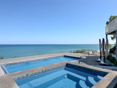 NOW BOOKING FOR 2020! ~ Lakefront Home With Pool And Hot Tub In New Buffalo!