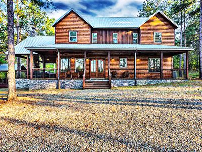 Photo for Tranquil Lake & Pine Views at KIAMICHI MOUNTAIN HIDEAWAY - Sleeps 18 in LUXURY!