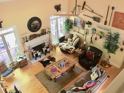 Photo for Artsy/Spacious Reynolds Farm House Lakefront w/Fire Pit (Kayak & SUPs included)