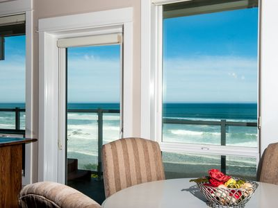 Photo for *Promo!* Second Floor Corner Condo, Oceanfront, Private Hot Tub, Pool, Wifi