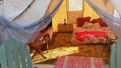 """Photo for Rocky mountain """"glamping"""" tent a it's finest!"""
