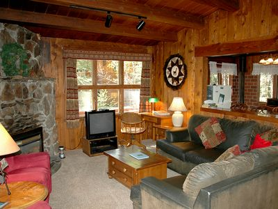 Photo for Classic, Cozy 2br Tahoe Cabin with Woodsy Setting. Walk to Sunnyside, a Great Value!