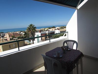 Photo for APARTMENT TERRACE FACING SEA PRIVATE RESIDENCE WITH SWIMMING POOL (400 M BEACH)