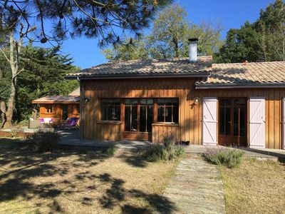 Photo for Beautiful typical Cap Ferret villa with heated pool