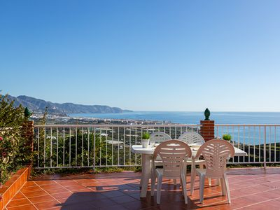 Photo for Hilltop villa w/ private pool, expansive terrace & incredible sea/mountain view!