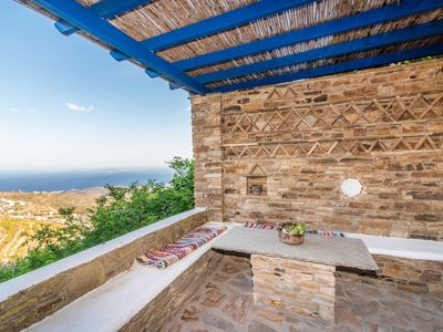 Photo for Charming Village Cottage Aegean views from terrace
